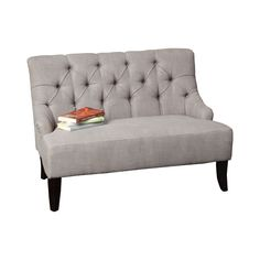 FREE SHIPPING! Shop Joss & Main for your Rinaldo 44 Tufted Settee. The Lynnhaven Settee offers seating with a design derived from French Colonialism. The curve of the backrest is mirrored in form by the chair legs giving the piece a unique elemental twist.