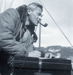 Longines Expeditions Polaires Francaises, the 1947 French polar expedition led by explorer Paul-Emile Victor (look at him, he's smoking a pipe)