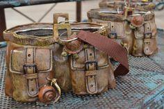 Ceramic purse pot. (2013)  mulhalls.com