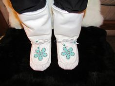 Women's Size 10 Native American Mid-Calf Mukluks