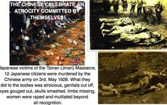 "What a bunch of lying hypocrites, ""80 pairs of ceramic shoes for the victims of the Nanking Massacre"" well please look at some of the Japanese victims of the Tsinan Massacre, they have no shoes!...they were stolen after they were mutilated by the Chinese army. 12 Japanese citizens were murdered by the Chinese army on 3rd. May 1928. What they did to the bodies was atrocious, genitals cut off, eyes gouged out, skulls smashed, limbs missing, women were raped and mutilated beyond all…"
