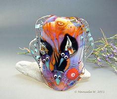 Lampwork bead by Manuela Wutschke