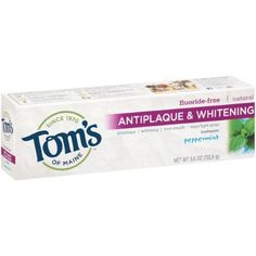 Tom's Of Maine Anti-Plaque And Whitening Toothpaste, Peppermint, 5.5 Oz | Jet.com