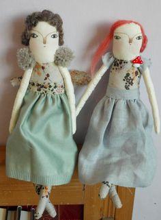 Lilian an Art doll ooak Cloth doll by maidolls on Etsy