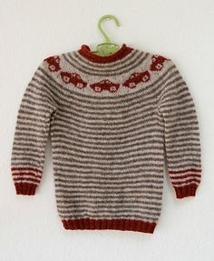 Ravelry: Silkesauen's Brum-brum genser (car sweater)