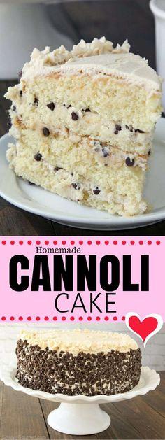 Cannoli Cake Recipe - the best homemade cannoli cake!