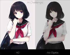 High school girl challenge artist: KD & Aoi Ogata