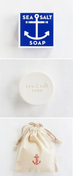 sea salt soap. perfect favors for beach and nautical weddings