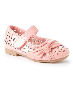 Look at this #zulilyfind! Pink Eyelet Bow Mary Jane #zulilyfinds