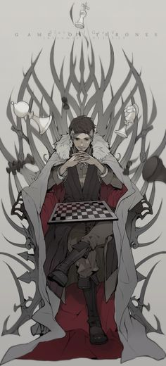 Petyr Baelish, Game of Thrones. Player by ~joscomie on deviantART (I LOVE this) Fanart, Manga Anime, Anime Art, Petyr Baelish, Lord Baelish, Chair Drawing, Game Of Thrones Art, Person Sitting, Art Reference Poses