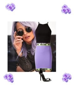 """.."" by r0ya1tyy ❤ liked on Polyvore featuring Moschino"