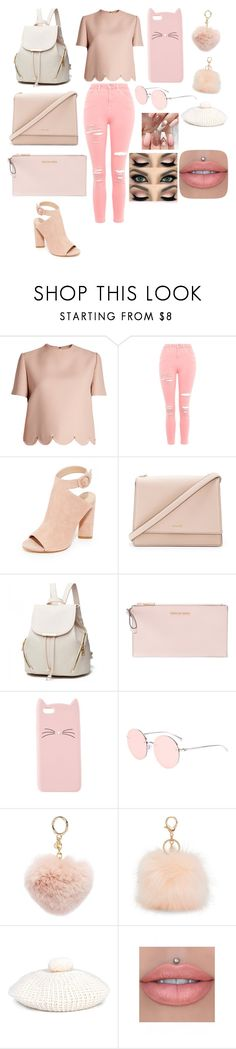 """Untitled #2096"" by bloodrose6 ❤ liked on Polyvore featuring Valentino, Topshop, Kendall + Kylie, Kate Spade, MICHAEL Michael Kors, Charlotte Russe, Aéropostale, Gucci and Jeffree Star"