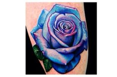 pink and turquoise rose tattoo - Google Search