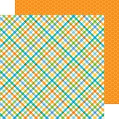 Doodlebug Design's Hip Hip Hooray Collection  Item:4145 - party plaid double-sided card stock