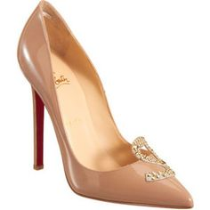 b525272eadf Christian Louboutin Sex pumps in nude patent leather