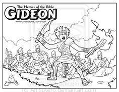 free printable bible coloring page of gideon | Gideon coloring page by ArtistXero