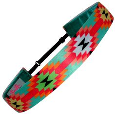 """Non Slip Adjustable Headband.  Our newest print """"Mesa Verde"""" has refreshing spring colors."""