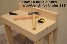 Build A Mini Workbench  So Fun For Kids  My Son Plays On It Daily