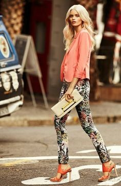 """Fabulous outfit in floral pants. New post on, at """"Do not buy, just cry"""" fashion blog. http://donotbuyjustcry.blogspot.gr/"""