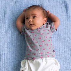 Kostenloses Schnittmuster Baby Shirt zum selber naehen DIY PDF-Schnittmuster zum Drucken