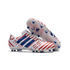 Adidas Messi Nemeziz 17.1 FG Soccer Cleats White Red Blue ca99a5dc7545e
