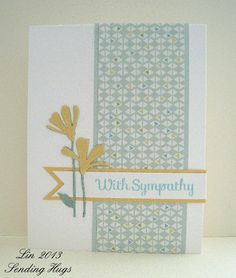 With Sympathy by bearpaw - Cards and Paper Crafts at Splitcoaststampers