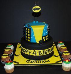 Batman & Robin Theme Birthday Cake by cjmjcrlm (Rebecca), via Flickr