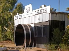The Big Camera. It is in the town of Meckering, about 130 kilometres east of Perth on the Great Eastern Highway. Inside there is a museum of the history of photography. It's a good reminder of how tricky photography was before the advent of digital cameras.