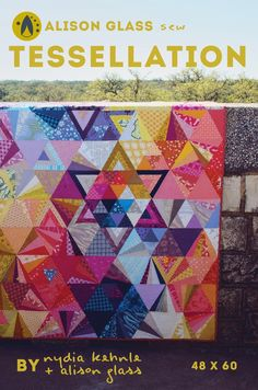 The finished quilt measures 48 inches by 60 inches.