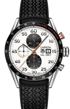 Thanks to TAG Heuer's insider blog Calibre 11, we can have a first look at TAG Heuer Carrera McLaren 1974 Edition