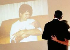 Father daughter dance with slide show. Great for a daughter without a father but still wants to honor him on her big day!