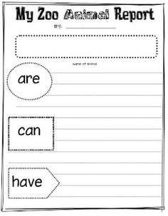 Terrific post with lots of examples on doing zoo animal reports in first grade. handout and anchor charts included.