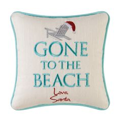 You'll love the Embroidered Gone to the Beach Throw Pillow at Wayfair - Great Deals on all Bed & Bath  products with Free Shipping on most stuff, even the big stuff.