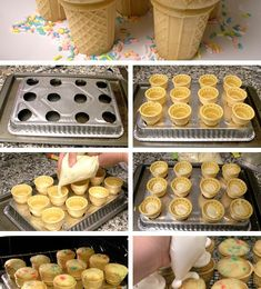 Ice cream cone cupcakes in Cupcakes and muffins recipes, step by step instructions of how to cook and bake   I wanna try this!!