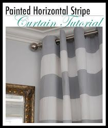 Horizontal striped curtain DIY project