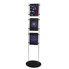 New Fashion A3 Adjustable Poster Holder Floor Stand Black Acrylic Frame Advertisement Poster Signage Display Rack Floor Banner Photo Stand Strong Resistance To Heat And Hard Wearing Card Holder & Note Holder