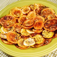 Oven Baked Squash Chips: So need to try these. I love the Fried Squash Chips that my husband makes, but these are probably a little better for me.