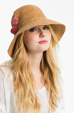 Flora Bella Crochet Raffia Hat | Nordstrom