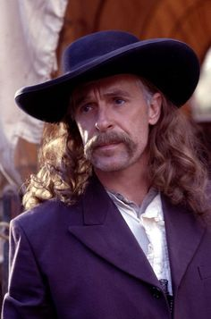 Keith Carradine as Wild Bill Hicock, Deadwood--had to get his phlegm situated.