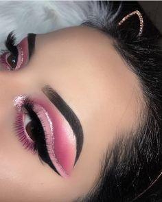 makeup names eyeshadow makeup look eyeshadow makeup trends with eye makeup makeup makeup makeup double layer to do eyeshadow makeup step by step eyeshadow makeup look Makeup Eye Looks, Eye Makeup Art, Pink Makeup, Cute Makeup, Glam Makeup, Pretty Makeup, Makeup Inspo, Eyeshadow Makeup, Pink Eyeshadow