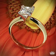 4 Prong Solitaire Engagement Ring with a 1.165ct A CUT ABOVE® Princess