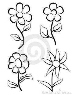 Hand draw flowers by Jan Kacer, via Dreamstime