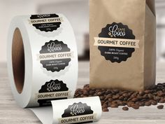 Need roll labels? We have 4 different types of roll labels for both indoor and outdoor use. We've got the roll labels that are right for you! Brownie Packaging, Dessert Packaging, Bakery Packaging, Food Packaging Design, Sandwich Packaging, Bottle Packaging, Packaging Ideas, Coffee Shop Design, Cafe Design