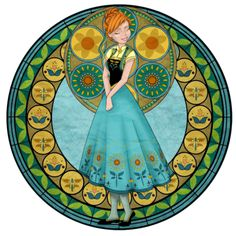 "lollipopclouds: ""Frozen Fever stained glass art by this artist. Disney Pixar, Disney And Dreamworks, Disney Frozen, Disney Art, Frozen Art, Anna Frozen, Cute Disney, Disney Girls, Disney Princess Art"