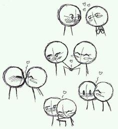 Look, touch, kiss, hug ♡