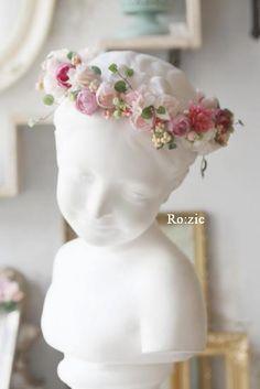 2014.9.10 ミニローズが可愛い花冠とリストレット : Ro:zic die floristin