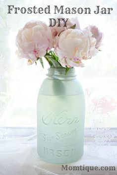 Are you ready for another DIY Mason Jar project? I'm going to show you how to easily....I MEAN EASILY...created a frosted Mason Jar.