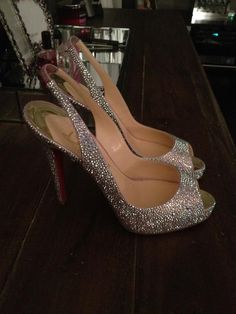Our bride with the best bling & most gorgeous blinged out wedding of course had the most spectacular Christian Louboutin Strass Heels for her wedding Love You Steph!