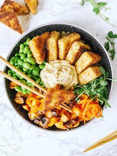 Vegetarian Recipes Dinner, Tofu Recipes, Cooking Recipes, Healthy Recipes, Halibut Recipes, Veggie Delight, Crispy Tofu, Buddha Bowl, Abandoned Castles