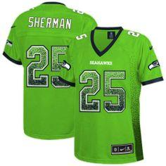 9f8a762fb4 Seattle Seahawks Richard Sherman Green Nike Limited NFL Drift Fashion  25  Women s Green Monday JerseySeattle Seahawks Richard Sherman Green Nike  Limited NFL ...